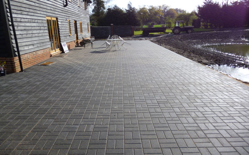 some paving