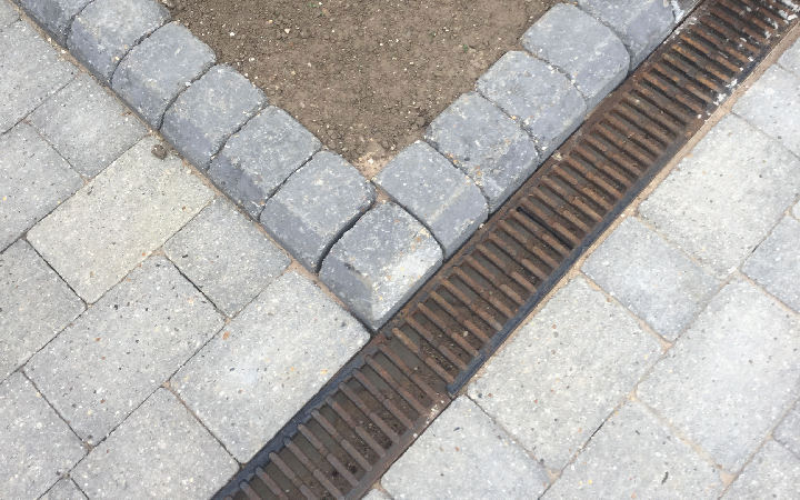 A block paving installation