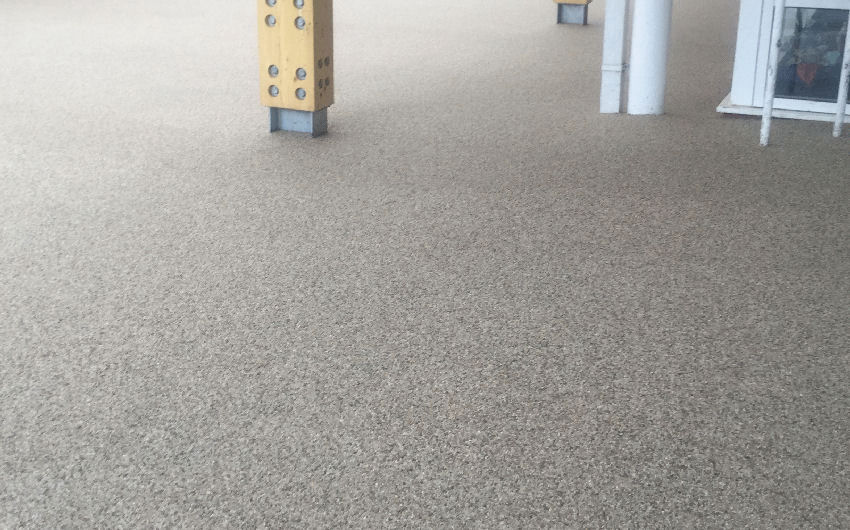 A resin bound surfacing installation