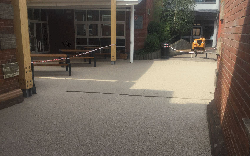Resin surfacing installation at a school